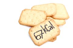 ิBiscuit calories. Biscuits are  on white background Stock Photo