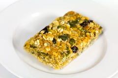 Biscuit caoutchouteux mou de fruit de farine d'avoine avec des graines images stock