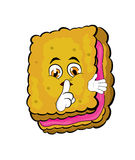 Biscuit cartoon Stock Image