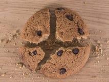Biscuit cassé de chocolat Photographie stock