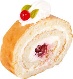 Biscuit with cherry Royalty Free Stock Photos