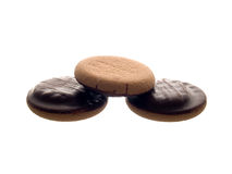 Biscuit in chocolate Royalty Free Stock Image