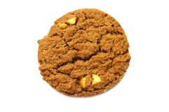 Biscuit with chocolate chip butter,Cashew nut and honey flavored. stock photography