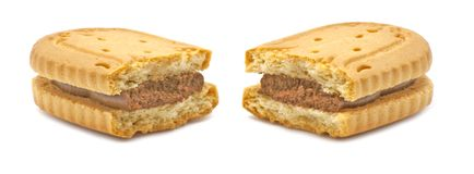 Biscuit with chocolate cream Royalty Free Stock Photo