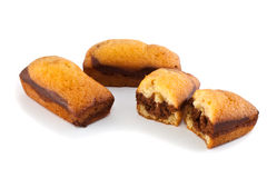 Biscuit and chocolate fruitcakes Stock Images