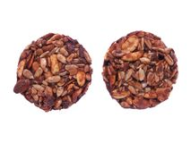 Biscuit with chocolate and seeds Royalty Free Stock Image