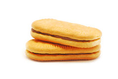 Biscuit with cocoa cream Royalty Free Stock Images