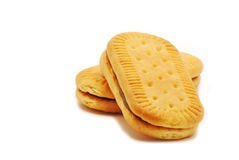 Biscuit with cocoa cream Stock Photo