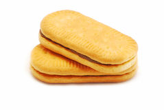 Biscuit with cocoa cream Stock Images