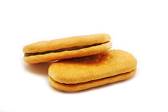 Biscuit with cocoa cream Royalty Free Stock Image
