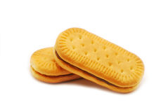 Biscuit with cocoa cream Royalty Free Stock Photos