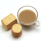 Biscuit and coffee Stock Image