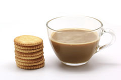 Biscuit and coffee Stock Photography