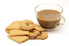Biscuit and cookie with coffee Stock Images