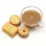 Biscuit and cookie with coffee Stock Photo