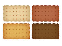 Biscuit Cookie Cracker Collection. Vector EPS10 Royalty Free Stock Photography