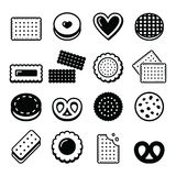 Biscuit, cookie - food  icons set Stock Image