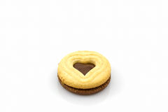 Biscuit Cookie heart shaped. Stock Images