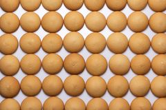 Biscuit cookies arranged in a background Stock Image