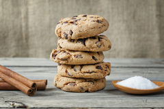 Biscuit cookies closeup Stock Photography