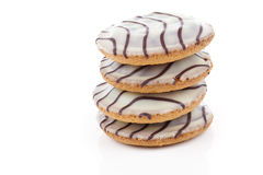 Biscuit cookies with cream. Close up. Royalty Free Stock Photos