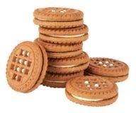 Biscuit cookies stack Stock Photo