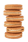 Biscuit cookies stack Stock Photo