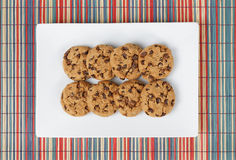 Biscuit cookies top view Royalty Free Stock Image