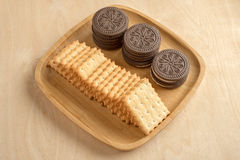 Biscuit cracker Stock Photos