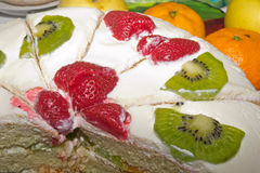Biscuit cream fruit cake Royalty Free Stock Photography