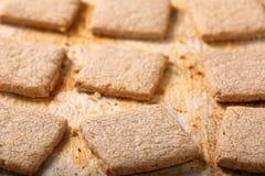 Biscuit croquant sur le fond de vintage Photos stock