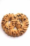 Biscuit cuit frais avec le pavot Photos stock