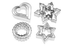 Biscuit cutters Royalty Free Stock Photos
