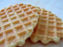 Biscuit délicieux de gaufre Photographie stock