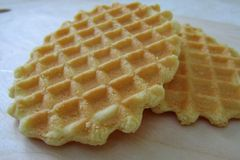 Biscuit délicieux de gaufre Photo stock