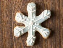 Biscuit d'éclaille de neige de Noël image stock