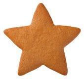Biscuit d'étoile de pain d'épice photographie stock libre de droits