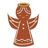 Biscuit d'Angel Christmas de pain d'épice Icône de boulangerie de nouvelle année Illustration Stock