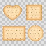 Biscuit de bande dessinée, mangeant de la pâtisserie, biscuits de petit déjeuner illustration stock