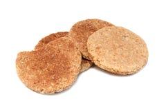 Biscuit de blé d'avoine Image libre de droits