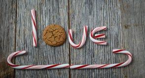Biscuit de canne et de pain d'épice de sucrerie Images libres de droits