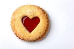 Biscuit de coeur Photographie stock libre de droits