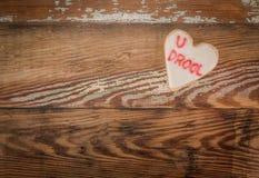 Biscuit de coeur de bave d'U photos stock