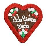 Biscuit de coeur d'Allemagne Image stock