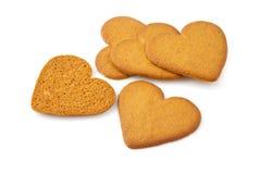 Biscuit de coeur d'isolement sur le blanc Image libre de droits