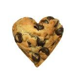 Biscuit de coeur d'isolement sur le fond blanc Image libre de droits