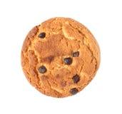Biscuit de farine d'avoine avec du chocolat d'isolement image libre de droits