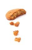 Biscuit de farine d'avoine croustillant Photo libre de droits