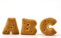 Biscuit de forme d'alphabet Photographie stock libre de droits