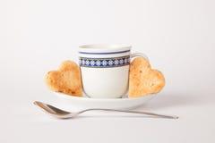 Biscuit de forme de coeur photos stock